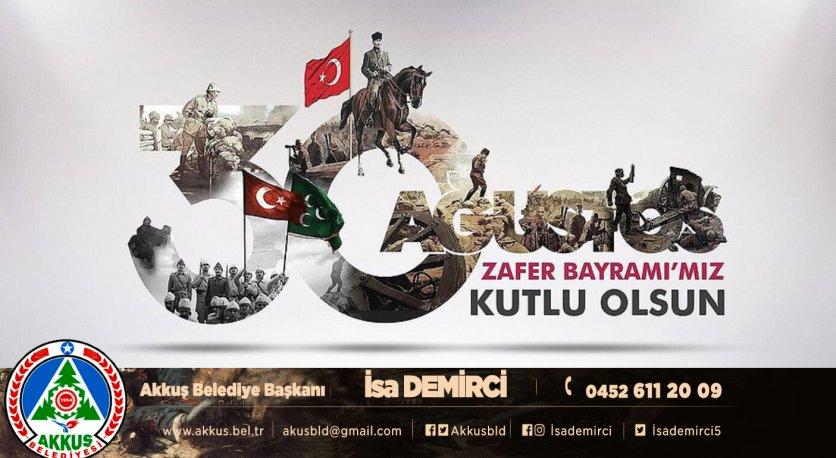 Başkan Demircinin 30 Ağustos Zafer Bayramı Mesajı