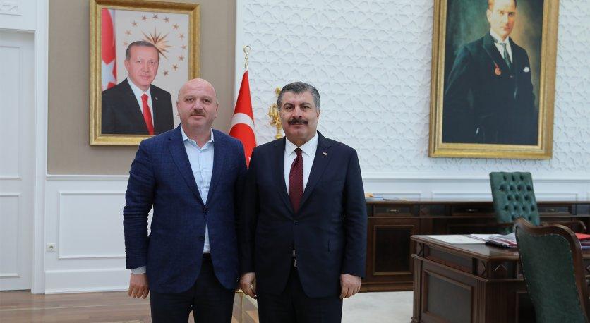 Gündoğdu, Sağlık Bakanı Dr. Fahrettin Kocayı Ziyaret Etti
