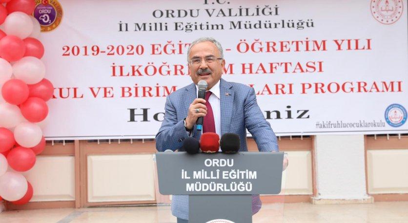 """HİLMİ GÜLER: """"TEMEL GÖREVİMİZ EĞİTİM"""""""